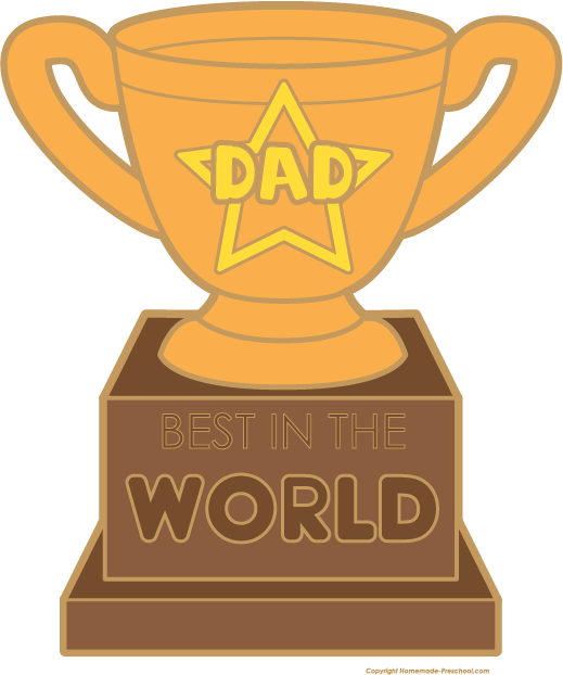 Free fathers day images. Number 1 clipart dad