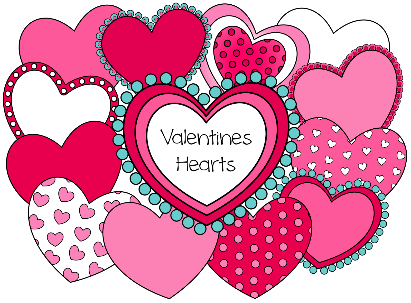 Twelve hearts that you. Mailbox clipart valentine's day