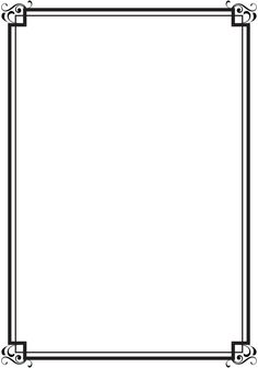 Free printable clip art. Boarder clipart simple