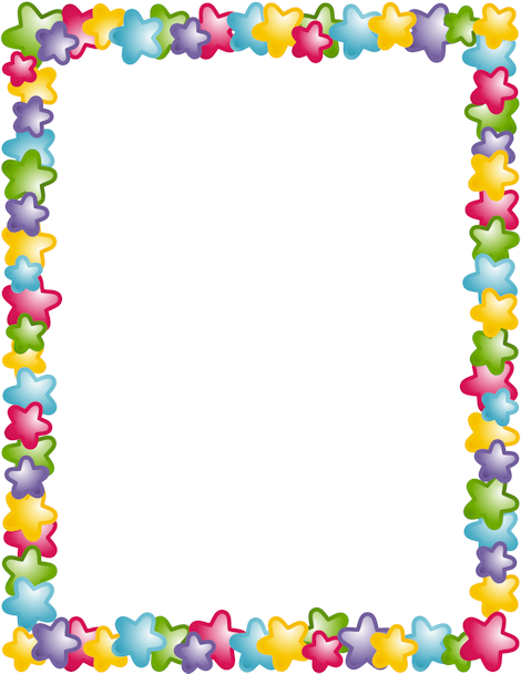 Clipart border. A page with stars