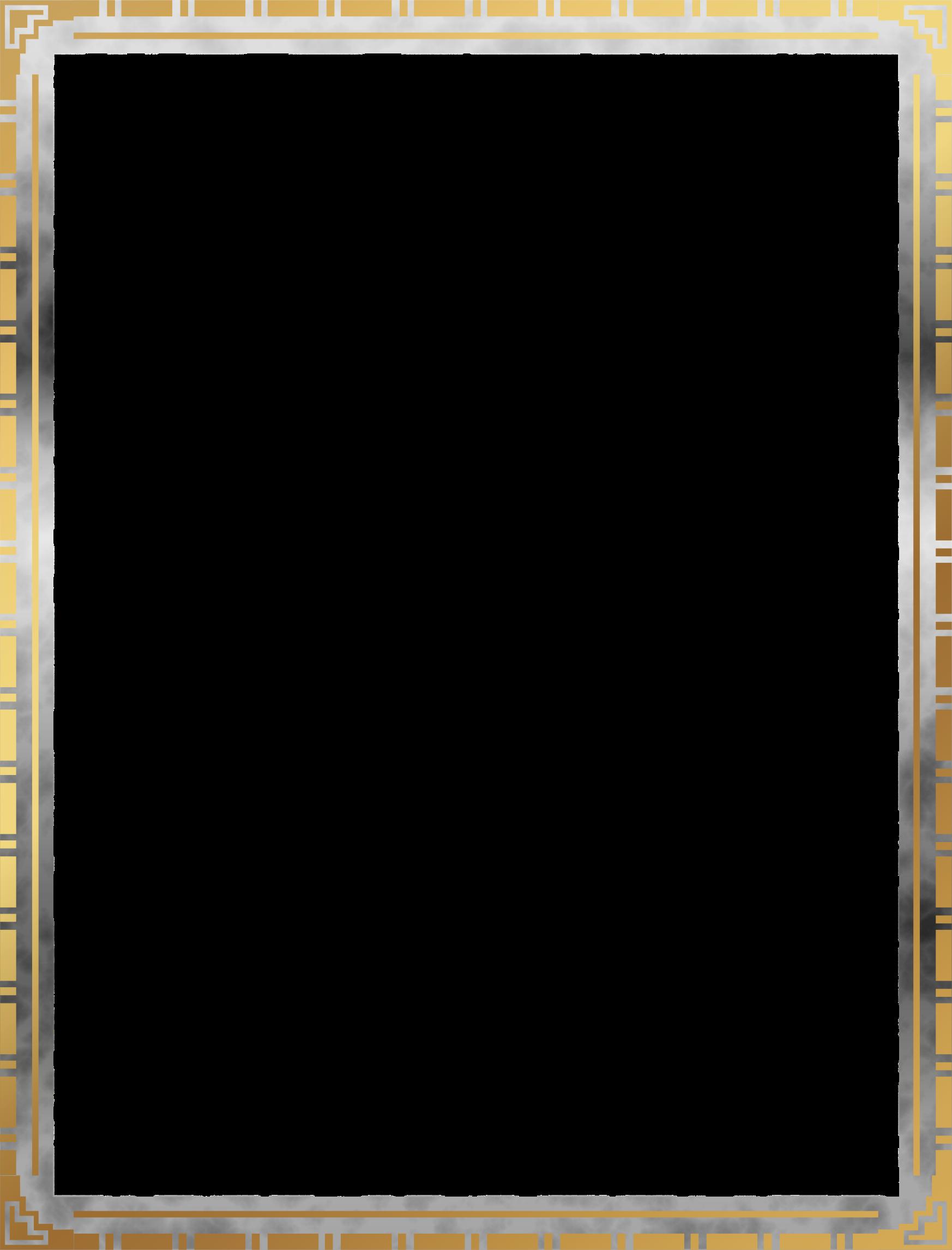 Border big image png. Clipart frames art deco