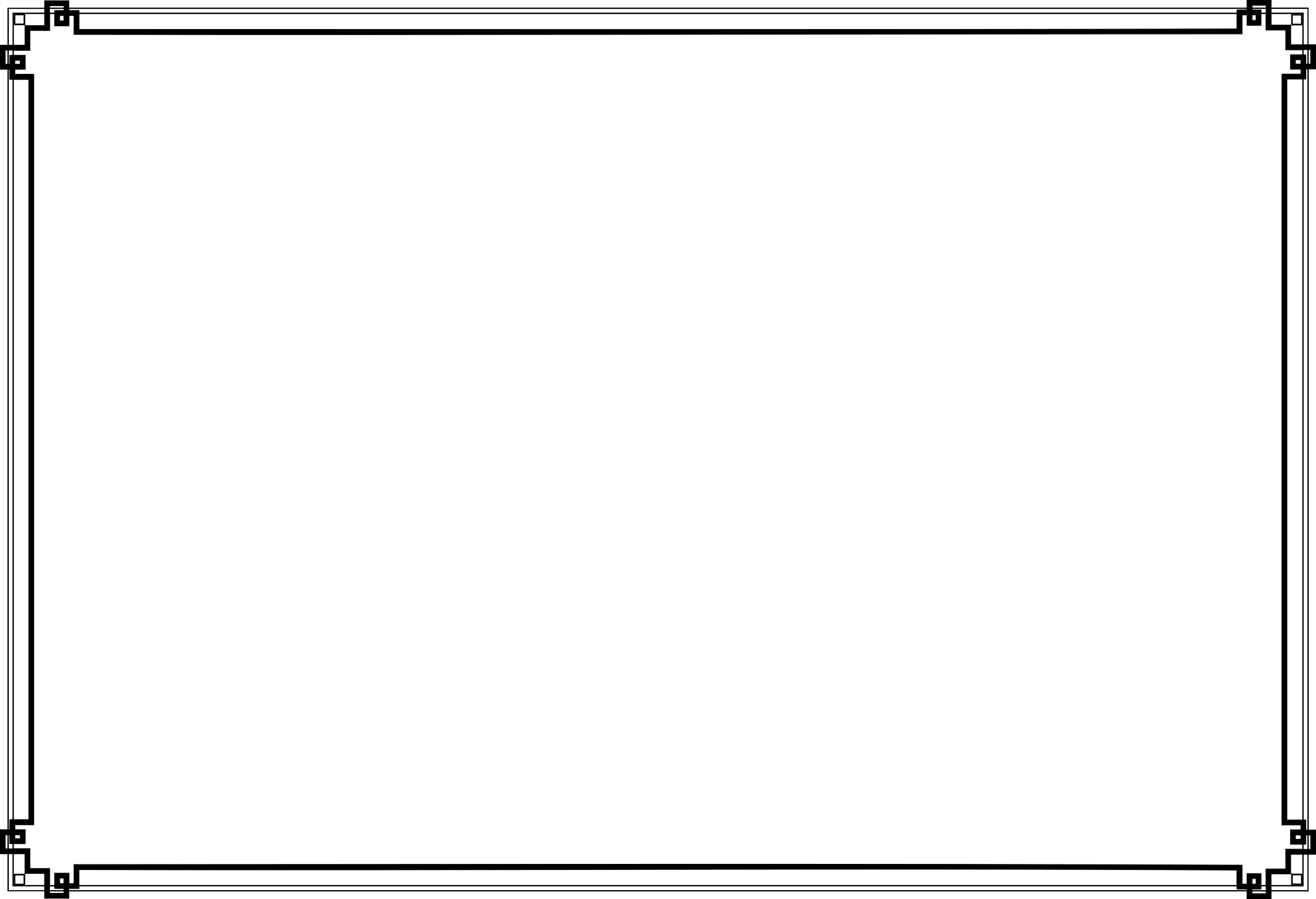 Transparent stickpng. Art deco border png