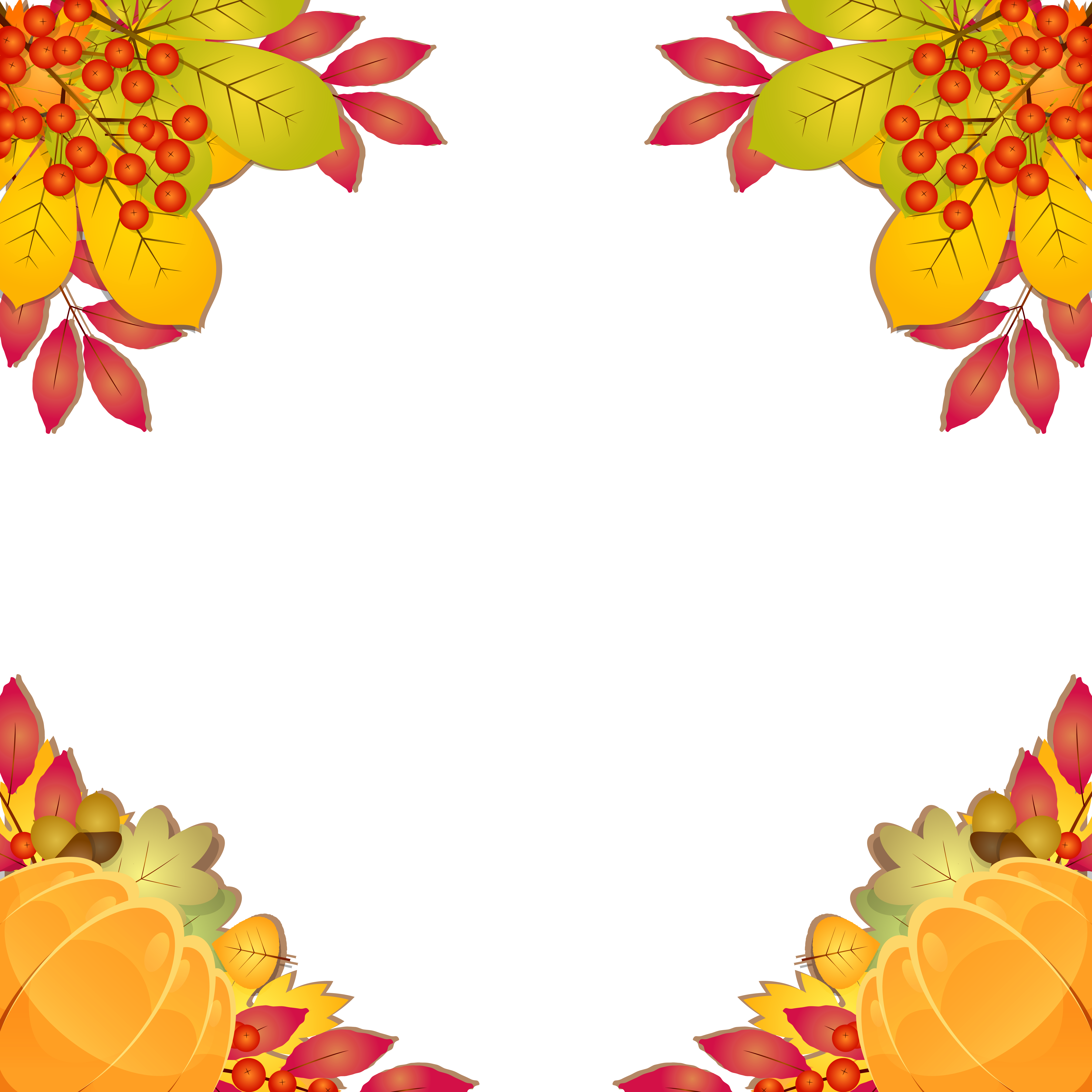 Frame clipart image gallery. Fall border png
