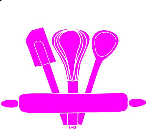 Clipart cake baker. Bakery utensils pink clip