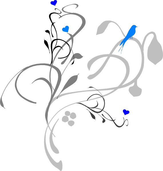 Funeral clipart accent. Blue bird on grey