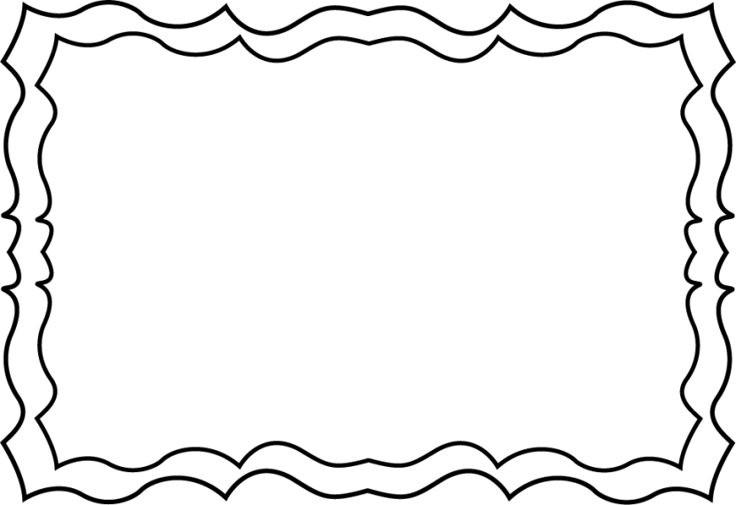 Black and white borders. Boarder clipart outline