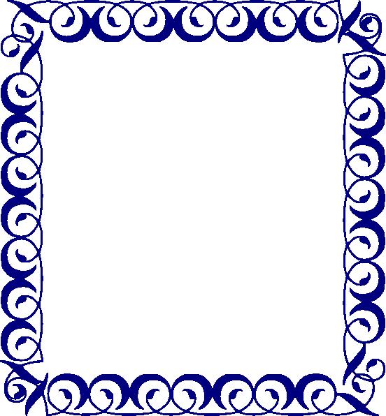 Blue clip art at. Hand clipart border