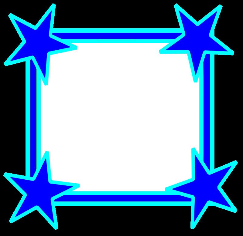 Clip art borders and. Clipboard clipart blue