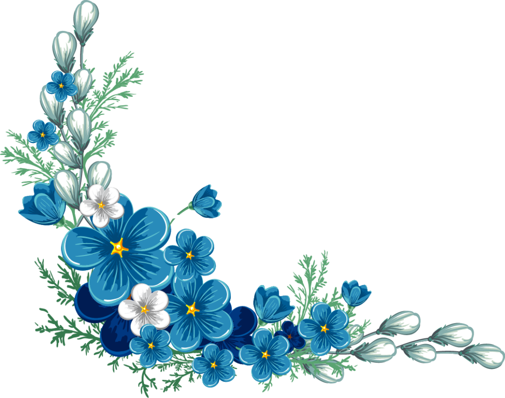 Blue flower png. Free flowers border peoplepng
