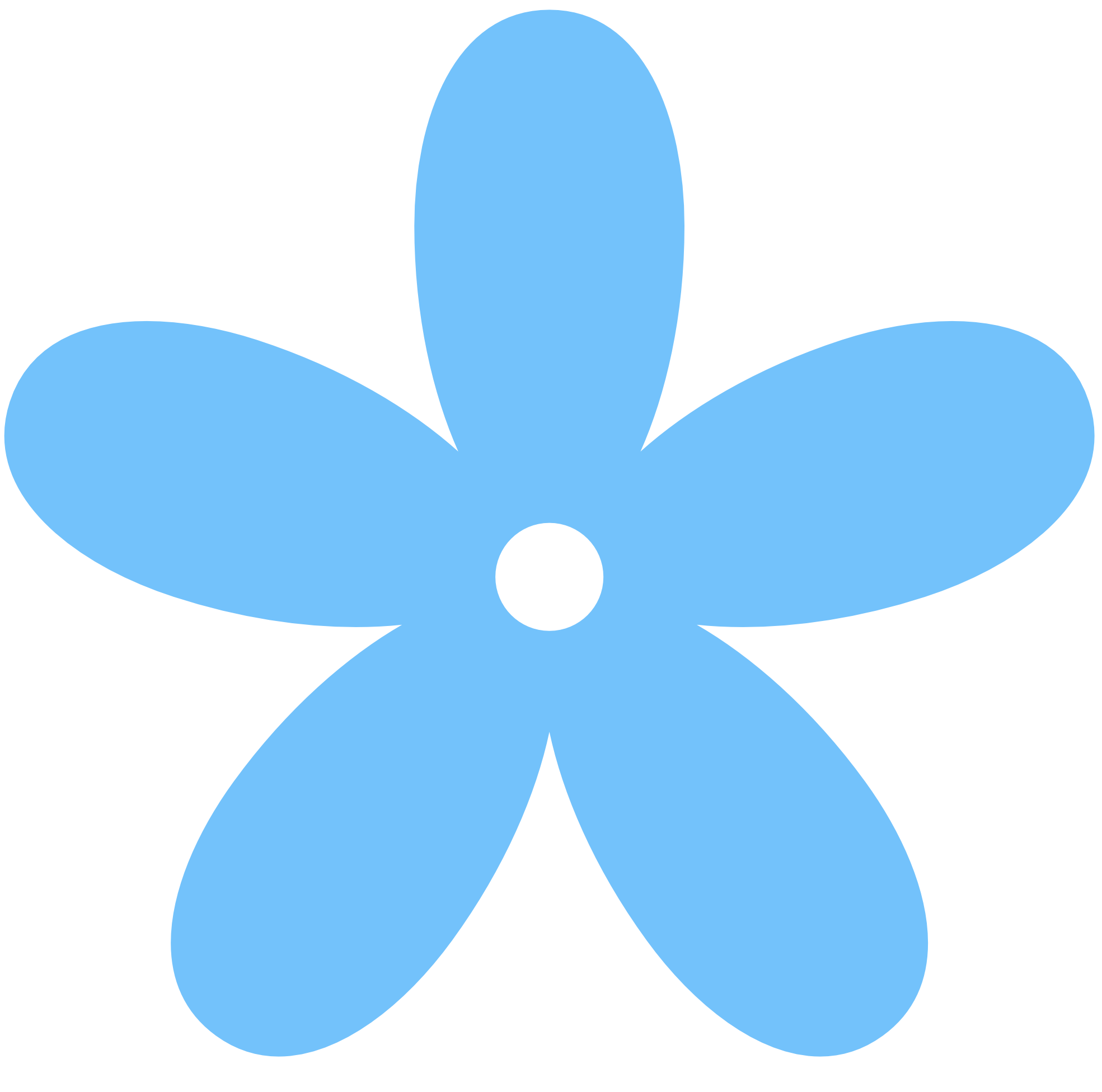 Flower . Color clipart blue