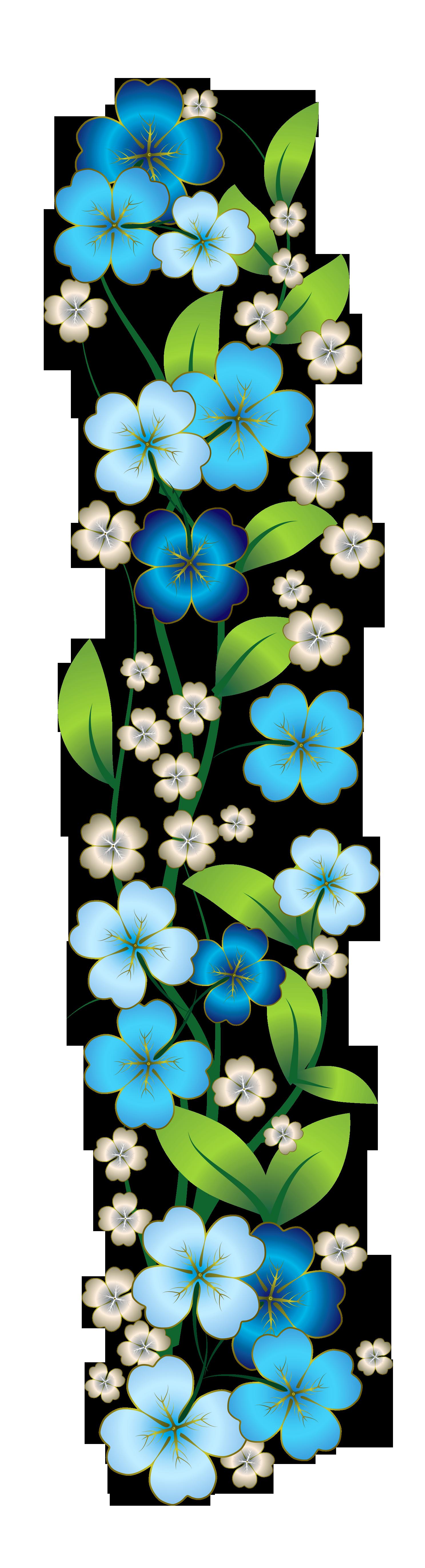 Decor png flowers pinterest. Clipart frame blue flower