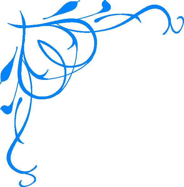 Clipart frame blue flower. Clip art at clker
