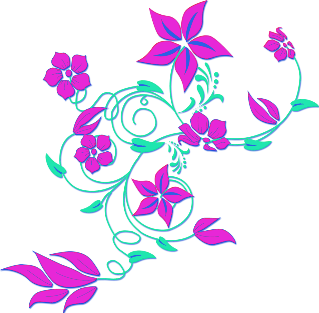 Lavender flower . Ivy clipart border