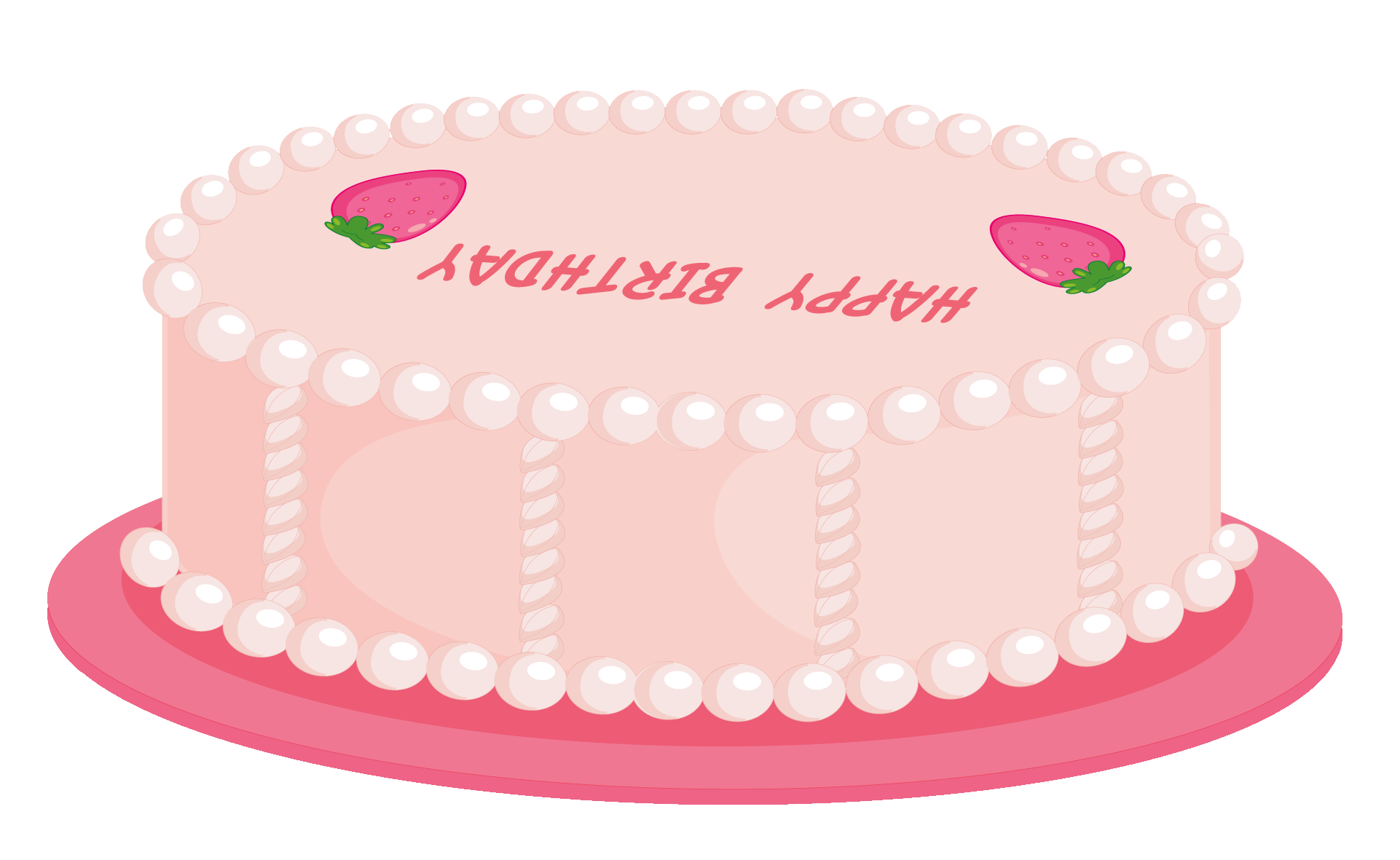 Cookies clipart cookie cake. Pink happy birthday png