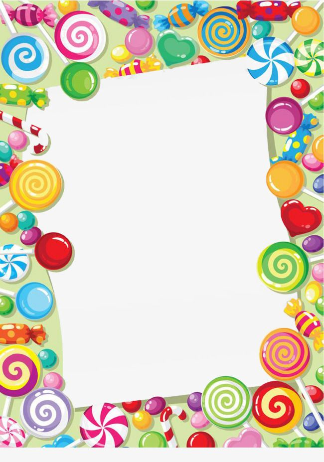Candy embellishment png . Lollipop clipart border