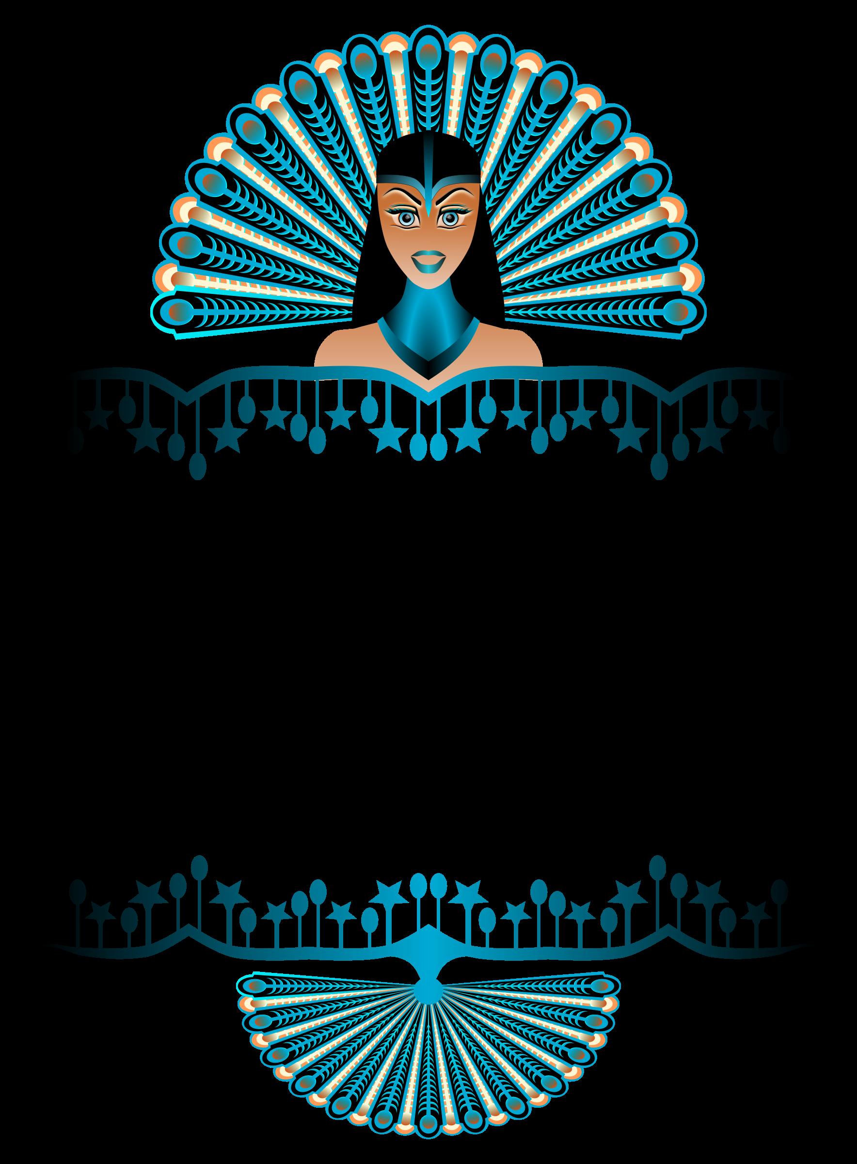Peacock girl big image. Clipart border carnival