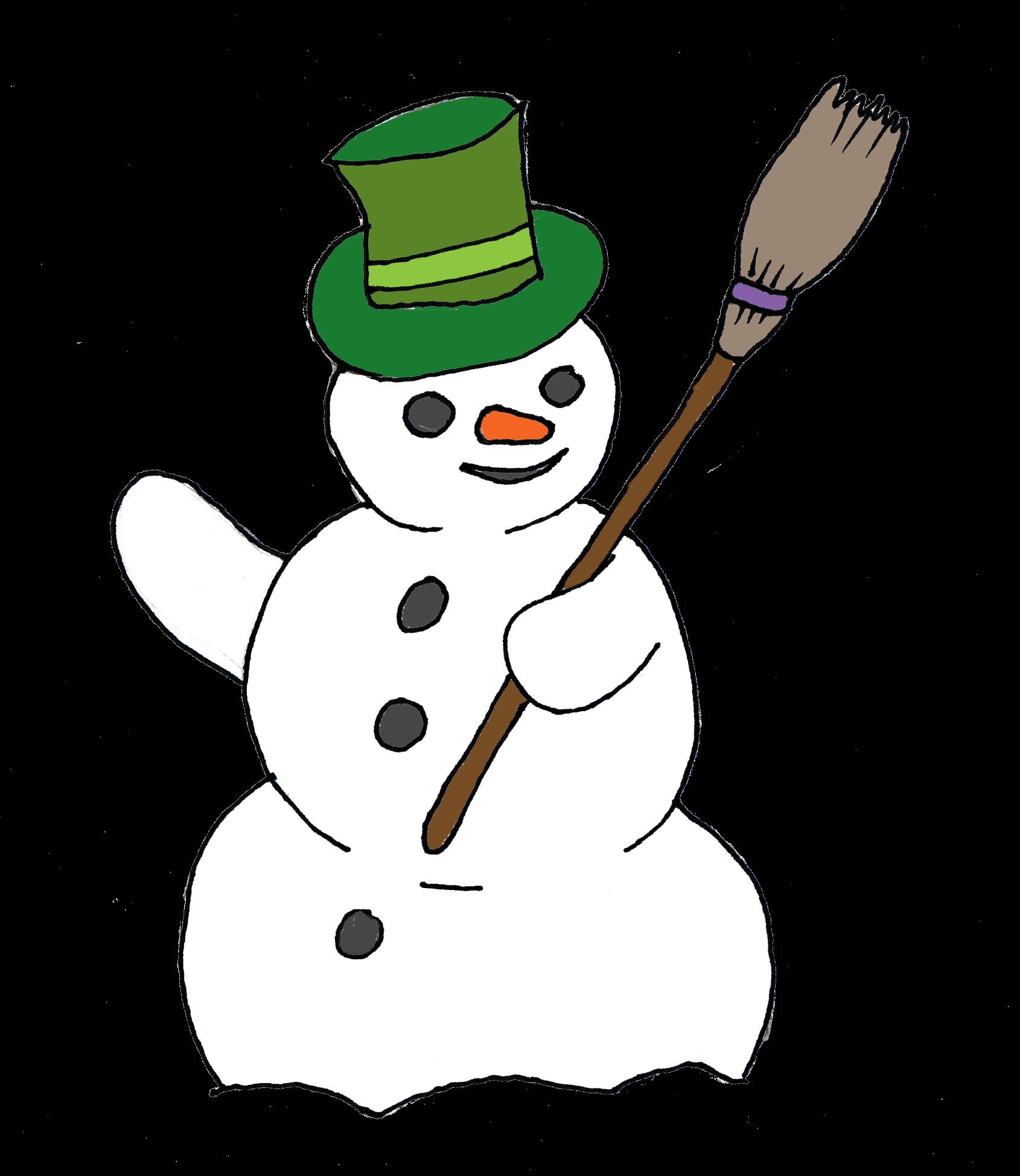 Free snowman border panda. Holiday clipart boarder