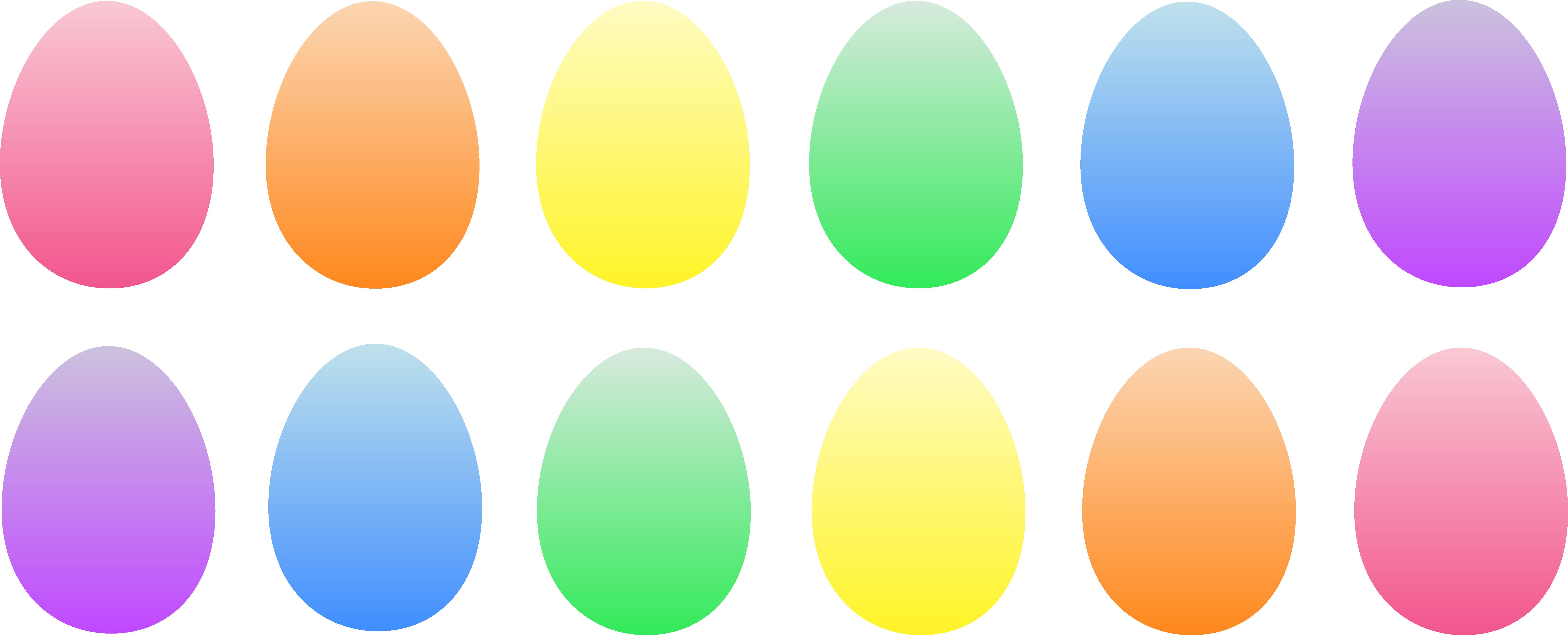 Colored easter eggs plain. Clipart socks basket