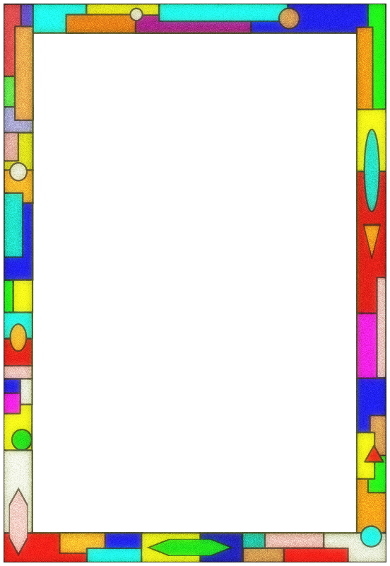 Color clipart borders. Stained glass border medium