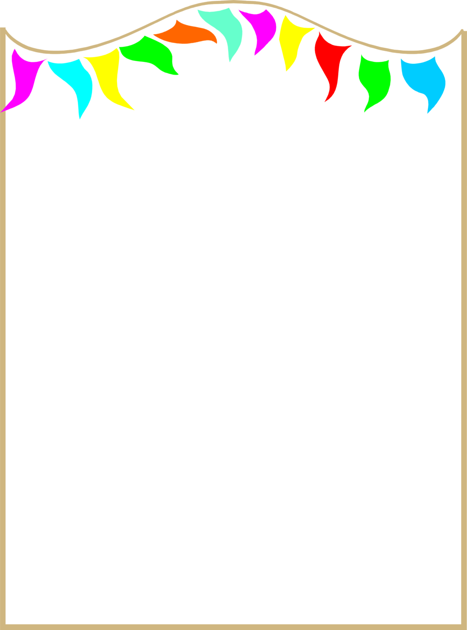 Torch clipart border. Colorful page borders free