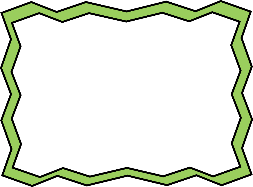 Picture clipart frame. Green zig zag free