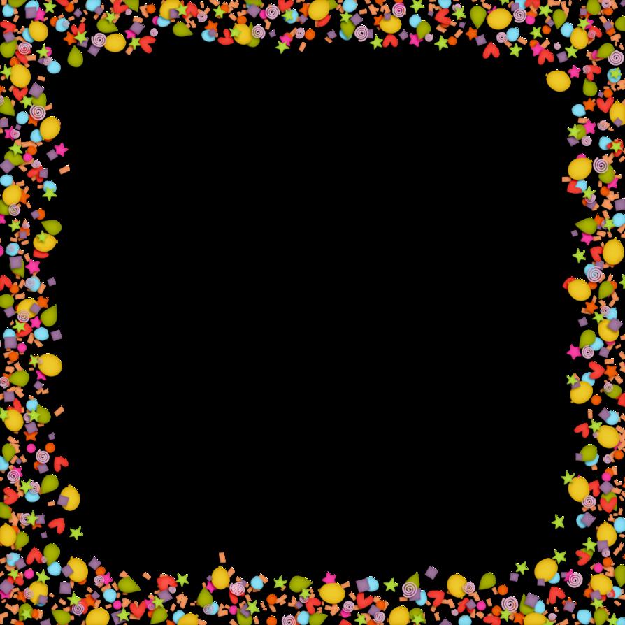 Un cadre color au. Clipart border confetti