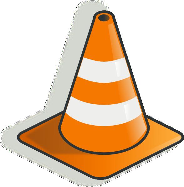 Cone clip art at. Construction clipart transparent background
