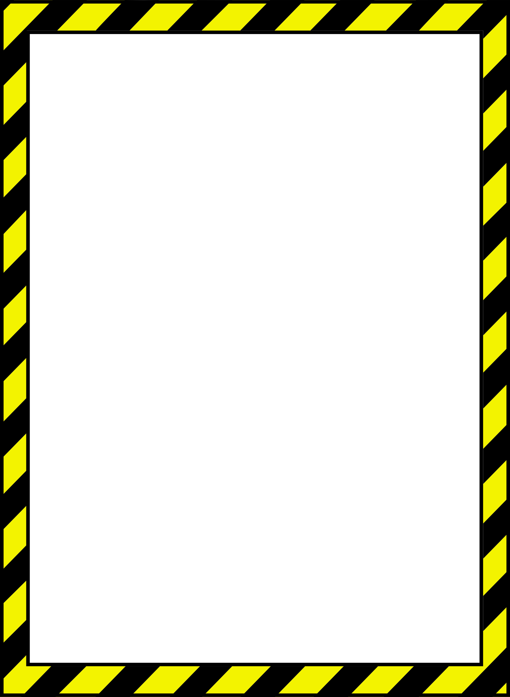 Traveling clipart border. Caution big image png