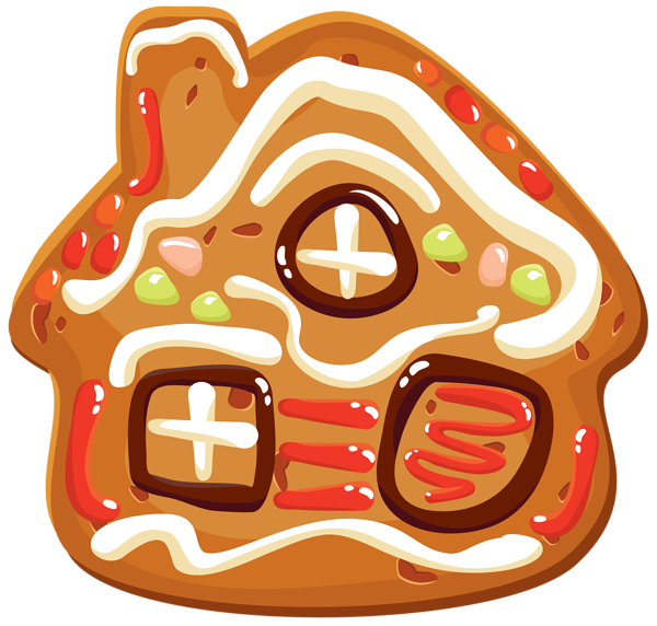 Christmas house png image. Clipart halloween cookie