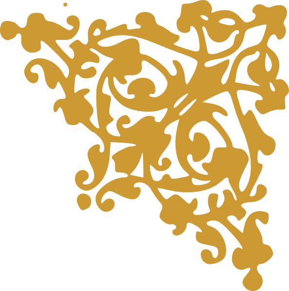 Corner border png. Gold clip art at