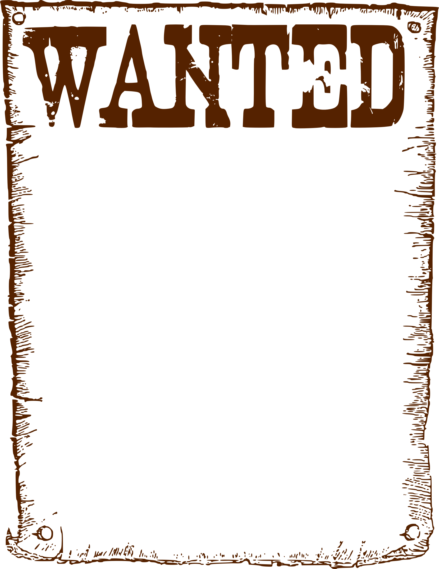 Western wanted sign template. Landscape clipart wild west