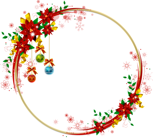 Christmas transparent png borders. Poinsettia clipart banner