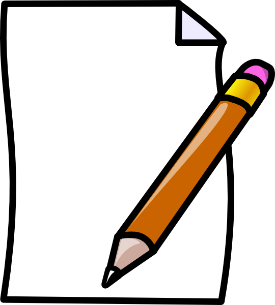 Black and white pencil. Newspaper clipart animated