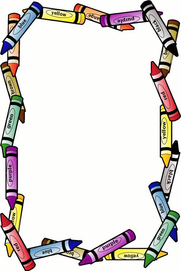 School borders border free. Crayon clipart boarder