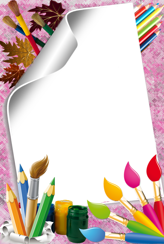 Stylos page h tterek. Crayons clipart picture frame