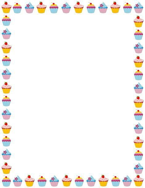Clipart cupcake borders. Cup cakes border frames