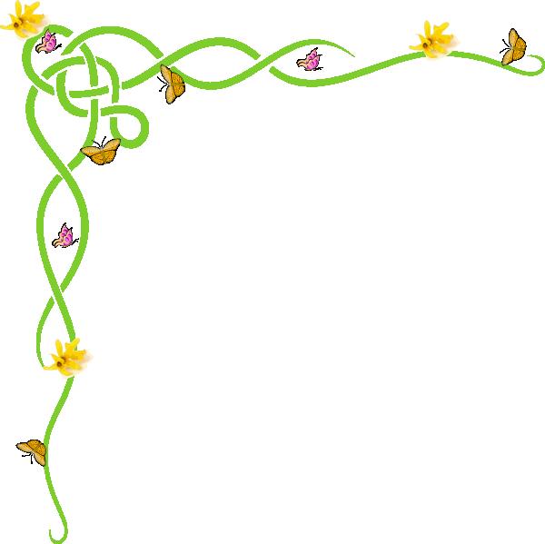 Clipart borders daffodil. Border yellow clip art