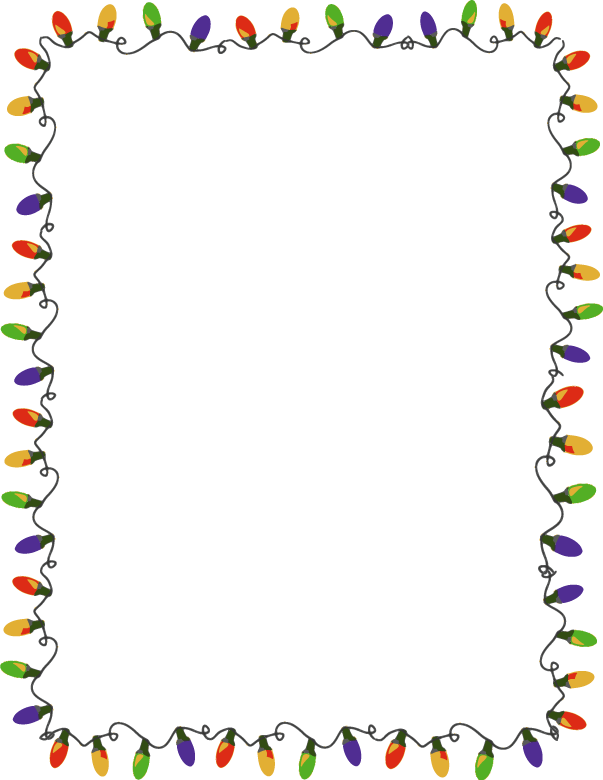 December clipart border. Free borders cliparts download