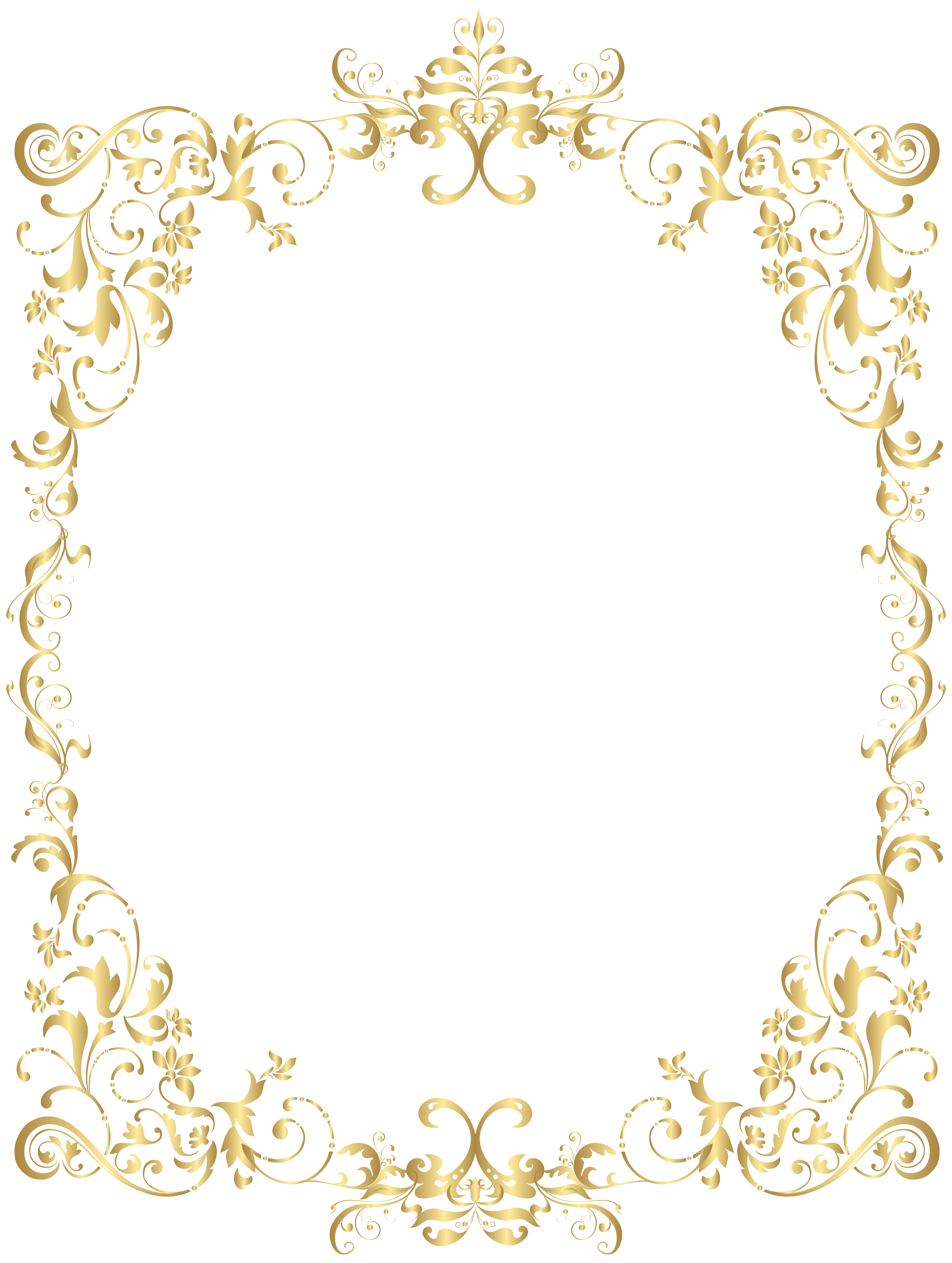 Clipart castle gold glitter. Border decorative frame png