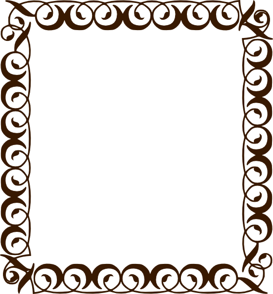Border pencil and in. Clipart frame chocolate