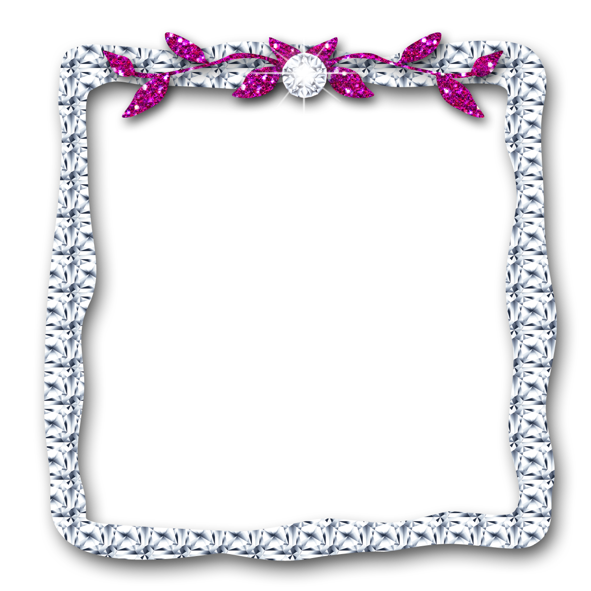 Borders and frames picture. Diamonds clipart frame