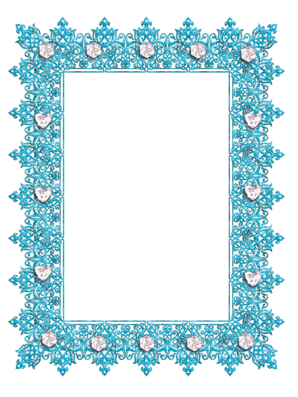 Clipart diamond banner. Blue transparent frame with