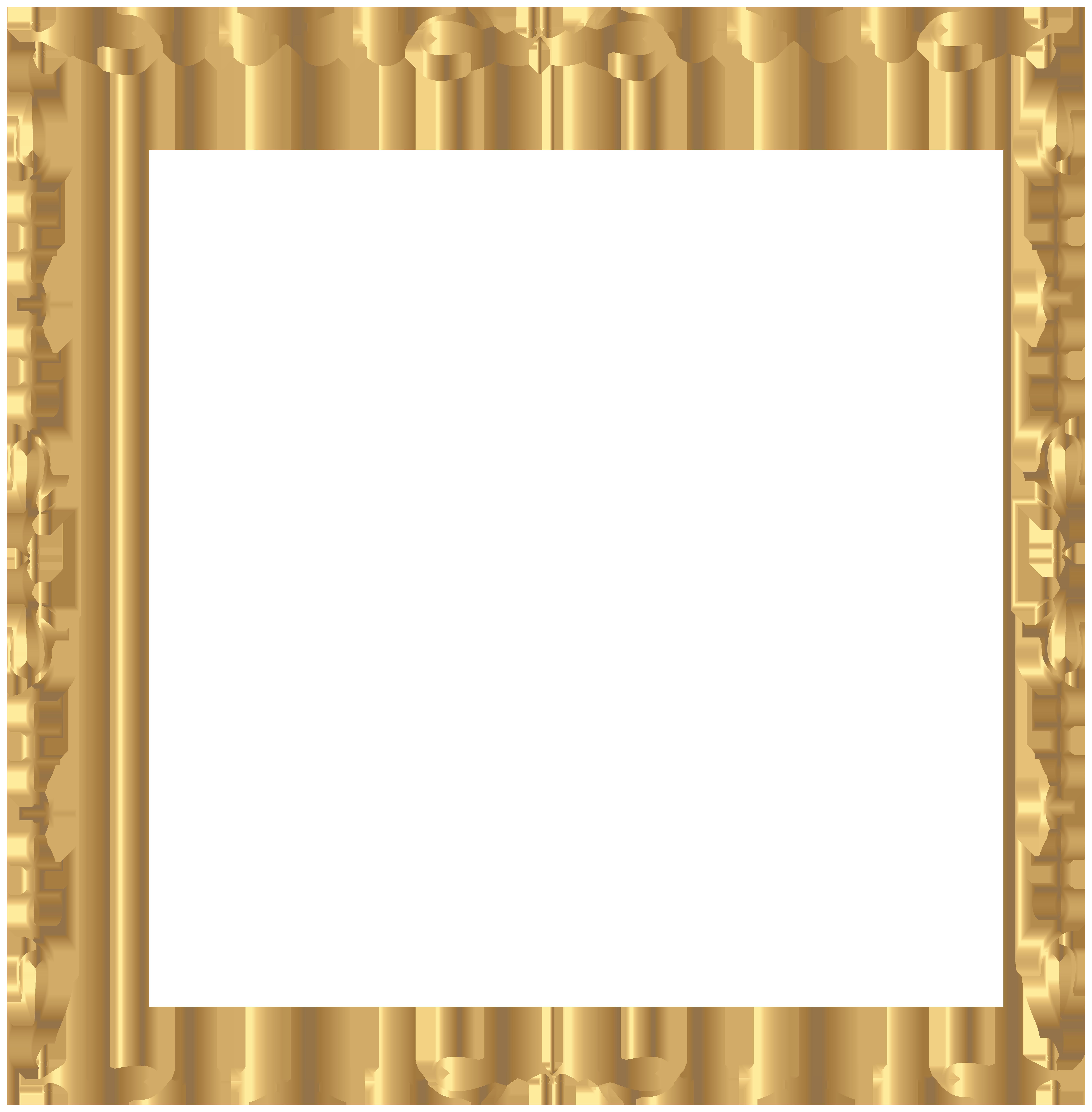 Clipart dog picture frame. Golden border png clip