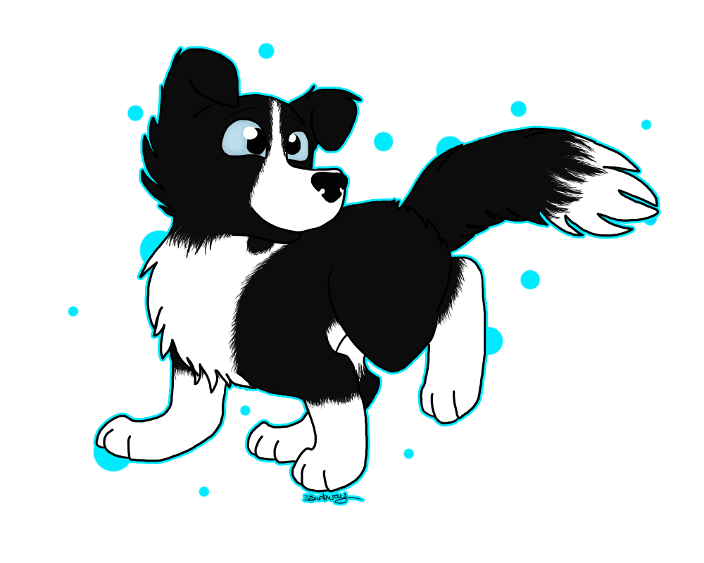 Collie by therealaussiekitten on. Pet clipart border