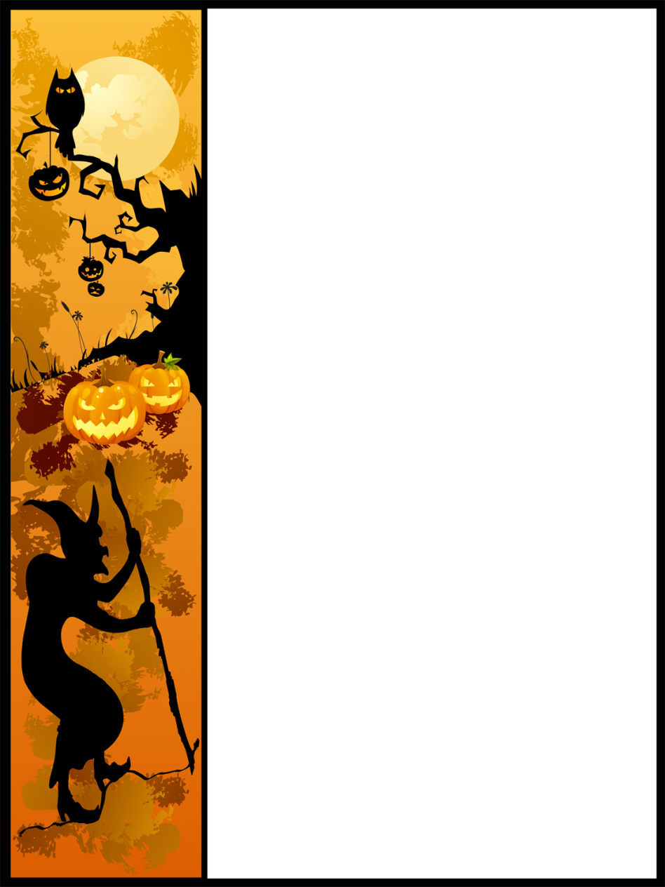 Free powerpoint template floral. Halloween border png