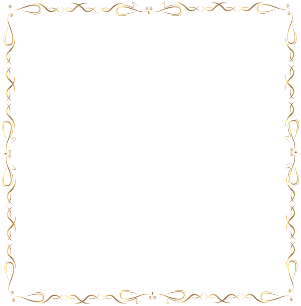 Exercise clipart frame. Golden border png clip