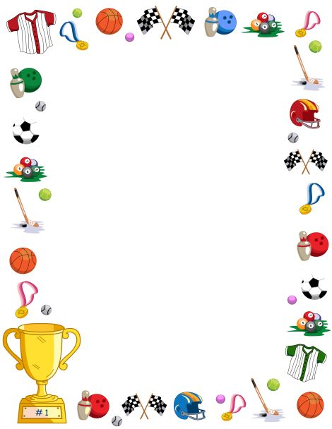 Free fitness frame cliparts. Exercise clipart borders