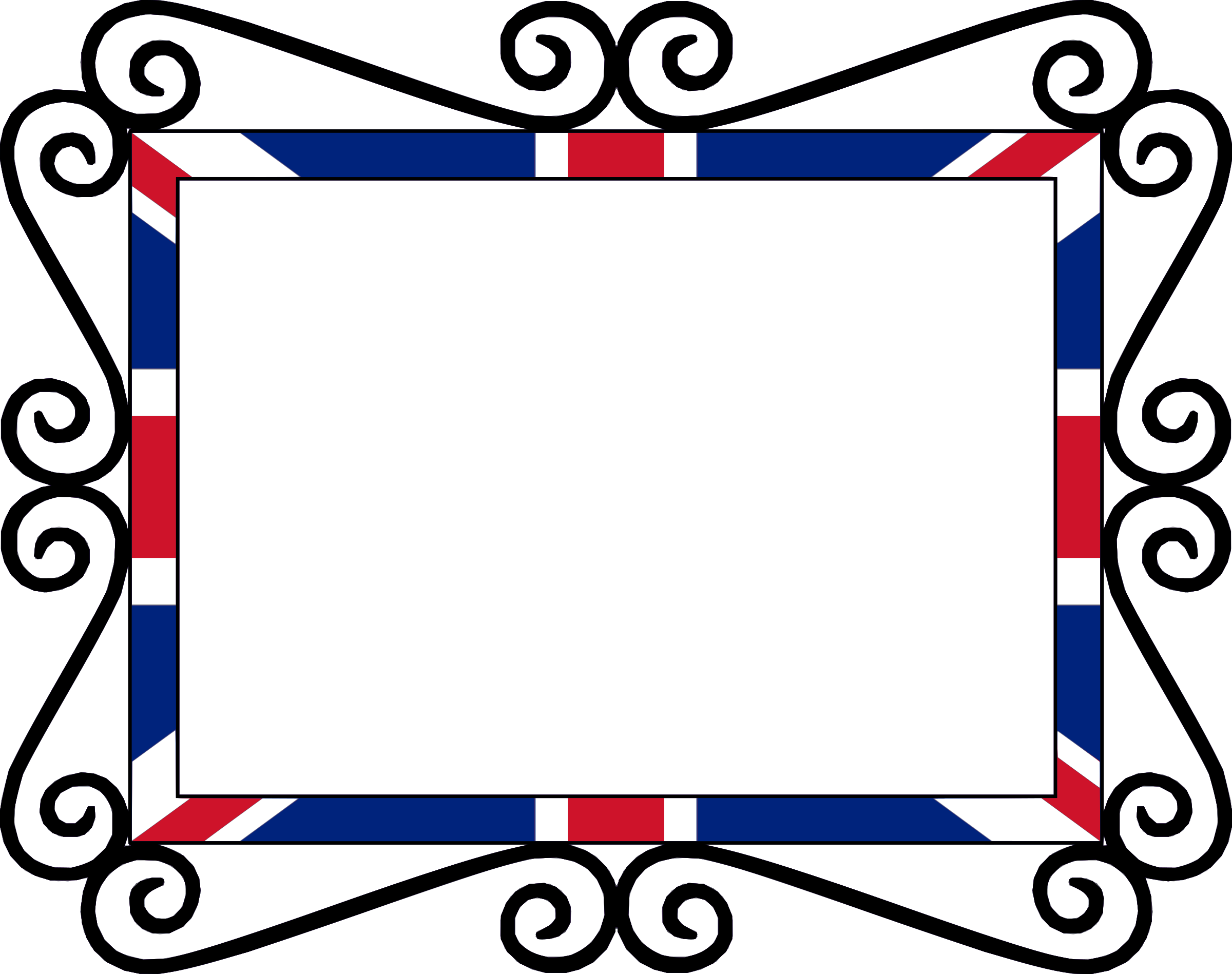 Picture clipart frame. Uk union flag big