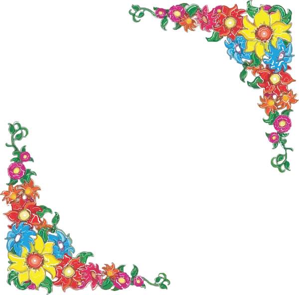 Worm clipart border. Flower at picture transparentpng