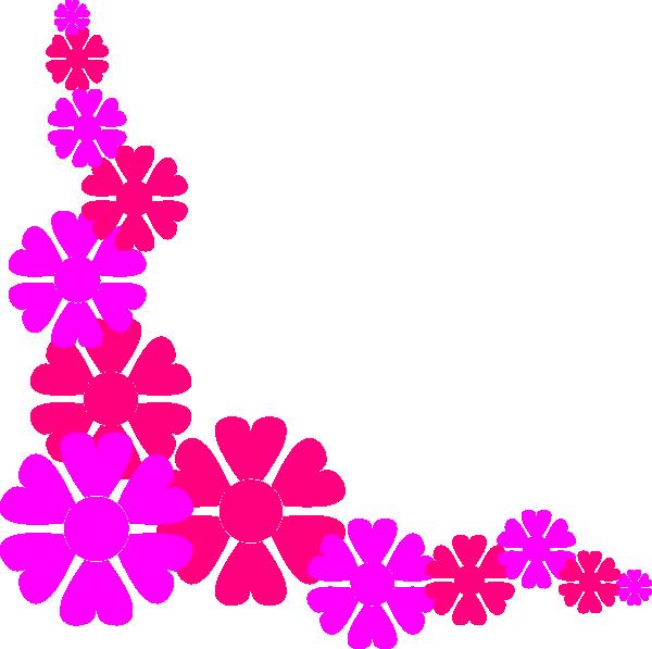 Flower border for girls. Flowers clipart cute